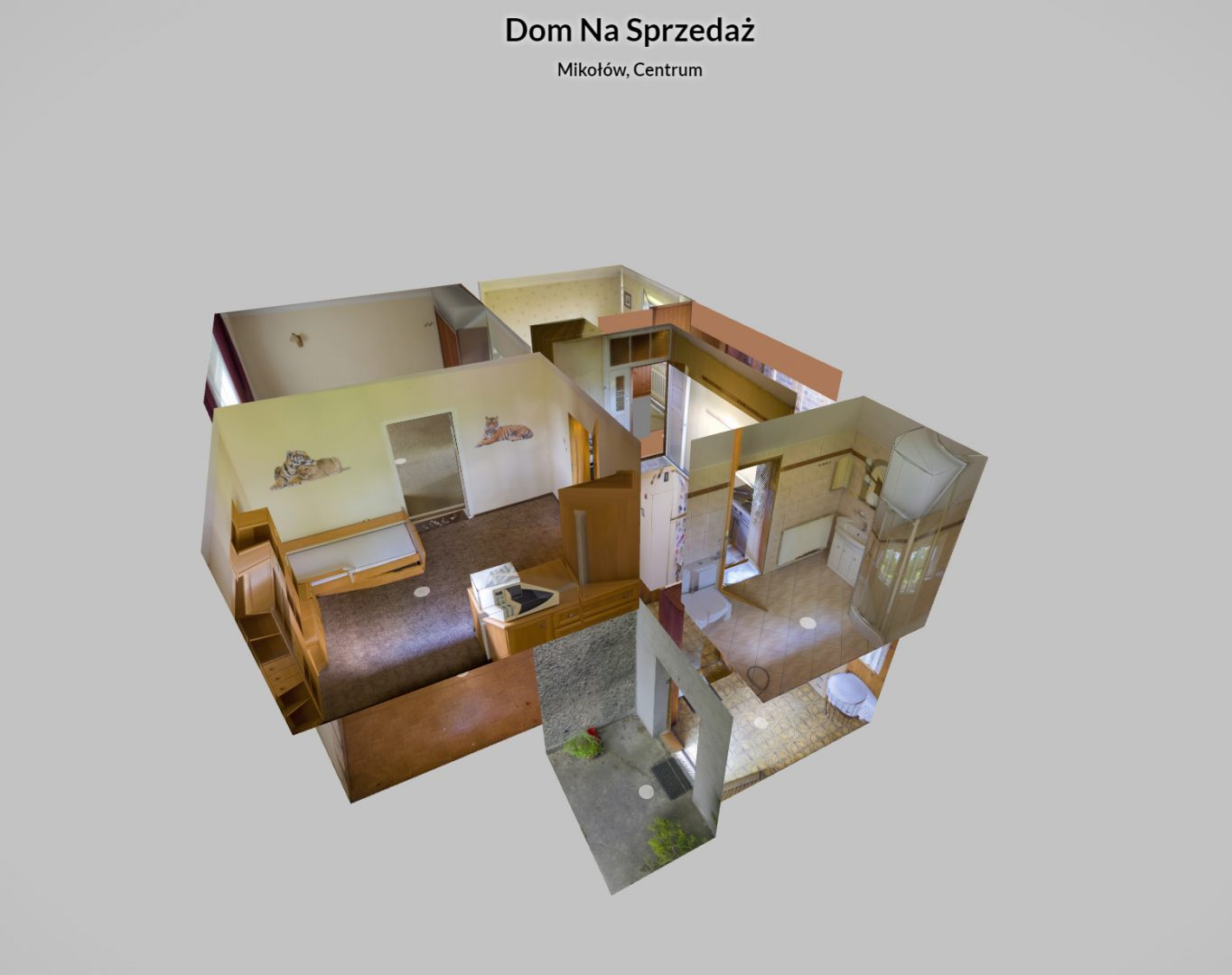 Model 3D - Dostępny  pełni na wirtualnym spacerze.